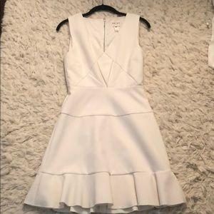 Reiss off white lady-like dress - size 4